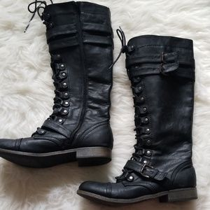 Rampage Palila combat knee high boots